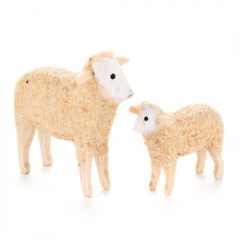 249/017 - Wooden Sheep Figurines (Set of 2)