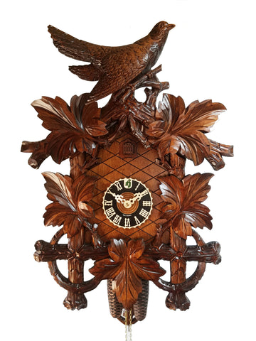 8 Day Sculpted 5 Leaf Cuckoo Clock