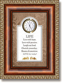 Life Table Top Clock