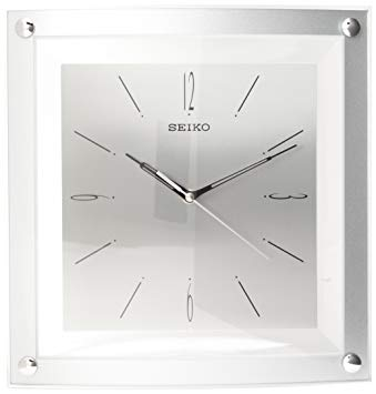 Seiko Square White Wall Clock