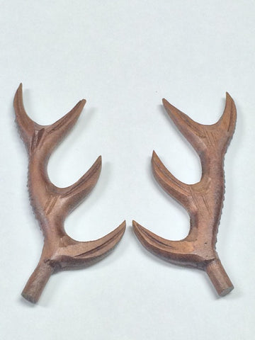 AA04W - Wooden Antlers 4""