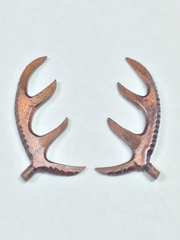 AA03W - Wooden Antlers 3""