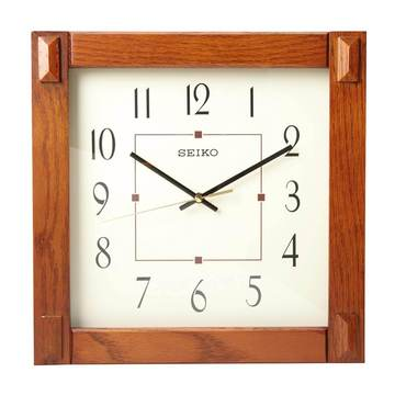 Seiko Brown Wall Clock