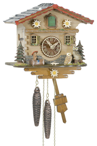 1 Day Chalet Cuckoo Clock with Owls