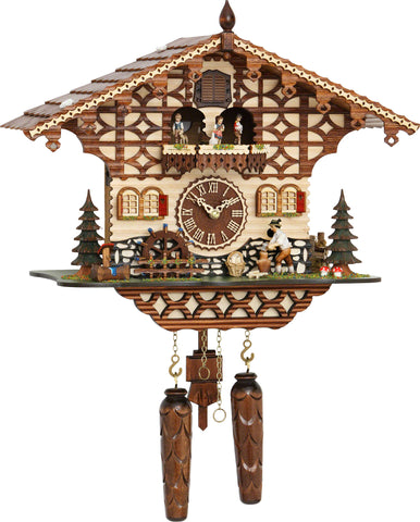 Quartz Musical Chalet w/ Wood Chopper