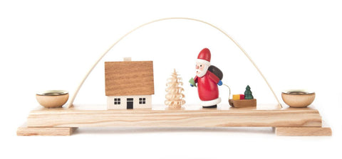 Candle Holder - Santa Candle Arch