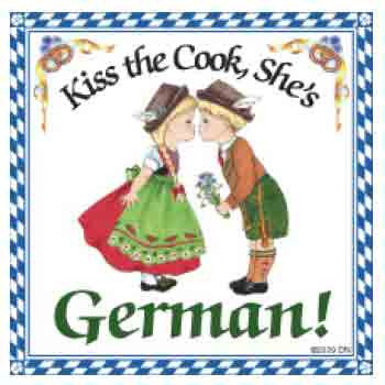 Kiss the Cook Tile Magnet