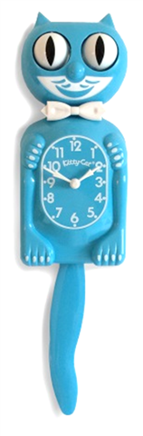 Kit Cat Scuba Blue Kitty-Cat Clock