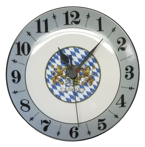 New German Porcelain Plate Clock