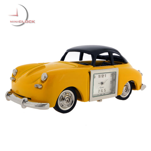Vintage Porsche-Yellow Miniature Clock