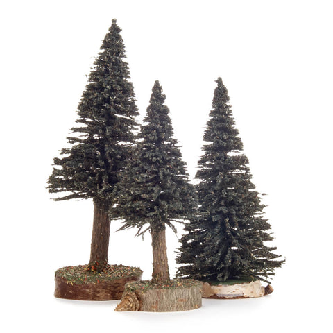 Green Spruce Trees - Set of 3