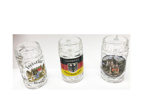 Set of 3 German Stein Shot Glasses