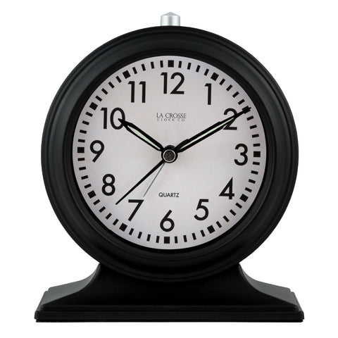 Black Mantle Tabletop Alarm Clock