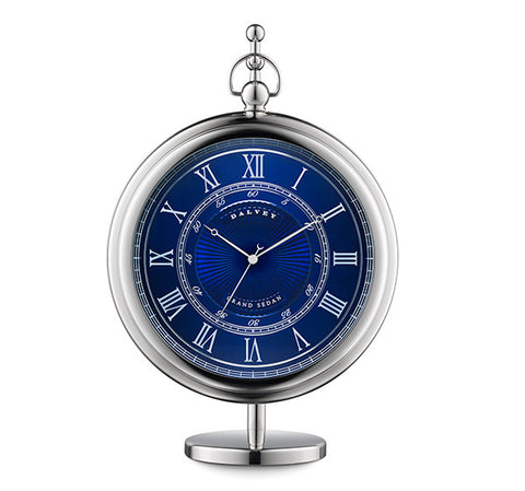 3249 - Grand Sedan Clock in Blue by Dalvey