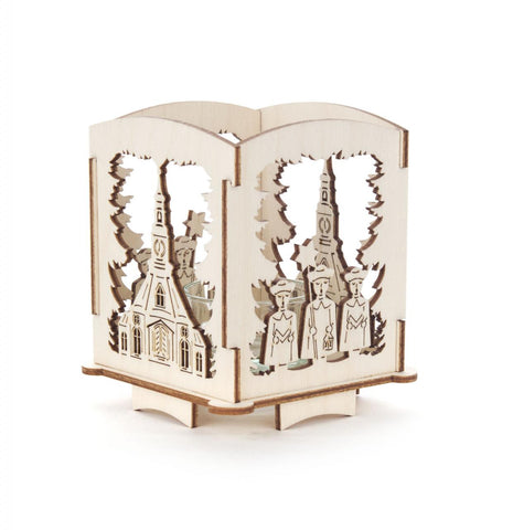 Church Carolers Candle Holder