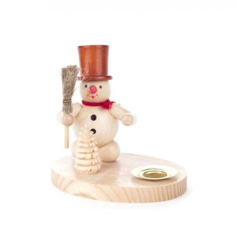 196/019N - Candle Holder with Snowman