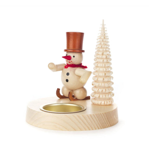 Tealight Holder - Snowman & Tree