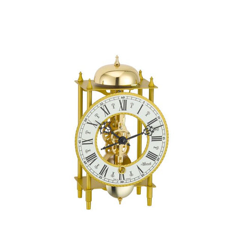 Hermle Skeleton Mantle Clock - Brass