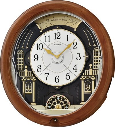 Seiko Melodies In Motion Wall Clock Wooden Case