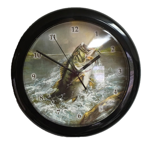 Fishing Themed Wall Clock