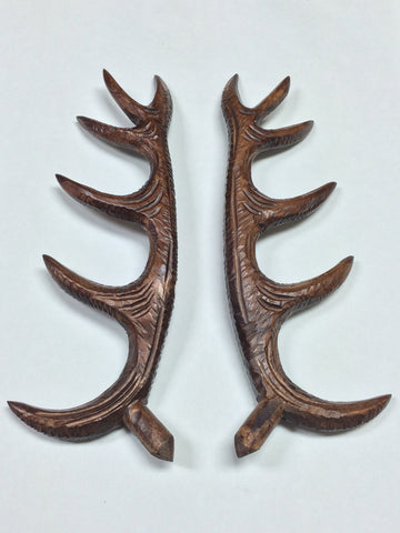 Wooden Antlers 11.5""