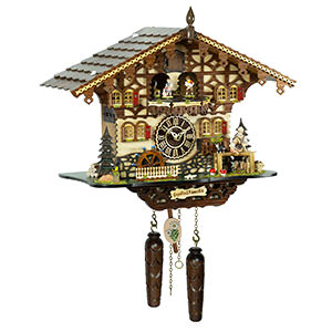 KU4258QMT- Quartz Musical Chalet Cuckoo with Gepetto & Pinocchio