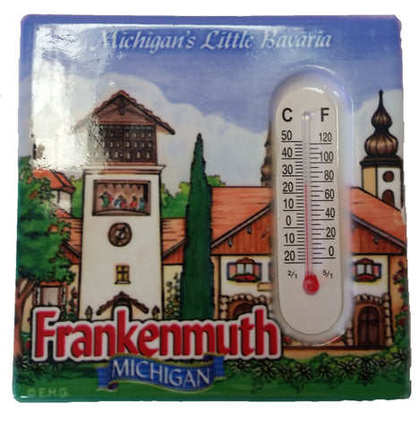 Frankenmuth Magnet Tile w/ Thermometer