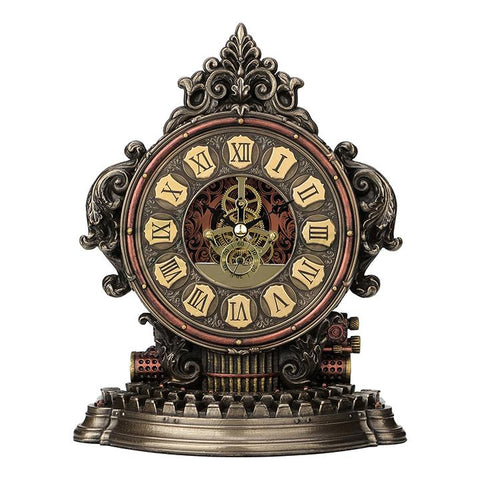 Steampunk Typewriter Gear Table Clock