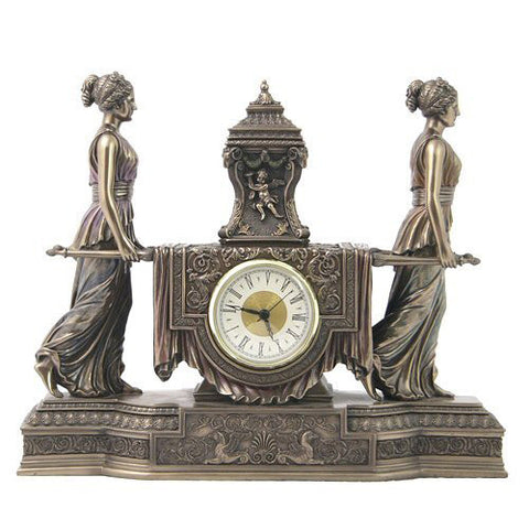 WU75563V4 - Women Carrying Urn on a Litter Clock