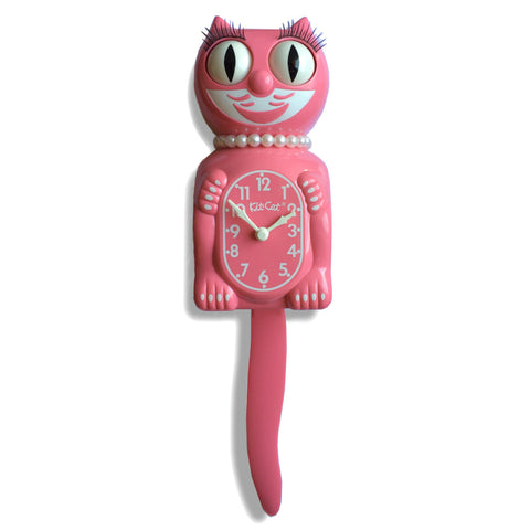 Kit Cat Lady Clock Strawberry Ice