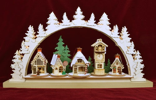 Schwibbogen Ginger Cottage Display
