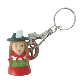 German Pretzel Lady Key Chain