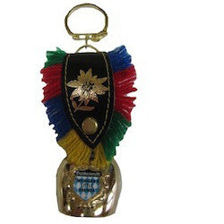 Decorative Cow Bell Keychain