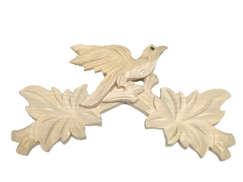 Bird Top Carving Unfinished 8""