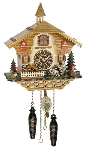 Quartz Musical Cuckoo Clock with Man and Child