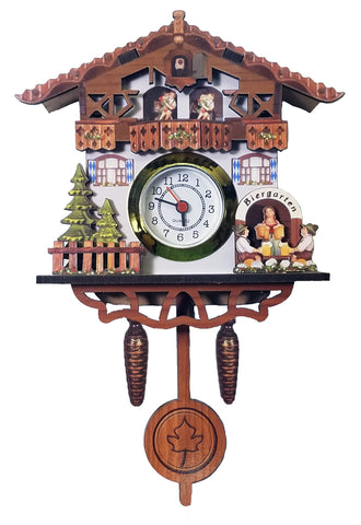 Biergarten Magnet w/ Working Clock