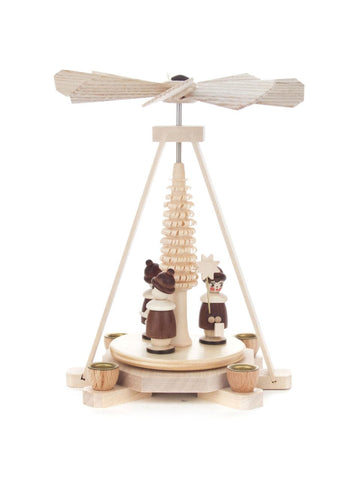 Pyramid-Miniature with Carol Singers (Natural)