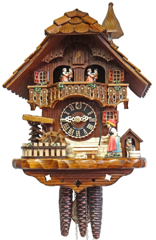 KU6777M-1 Day Musical Bellringer Chalet w/ Waterwheel