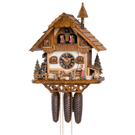 KU8643M - 8 Day Musical Chalet with Bellringer & Animals