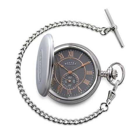 3289 - Full Hunter Pocket Watch in Grey/Rose Gold by Dalvey