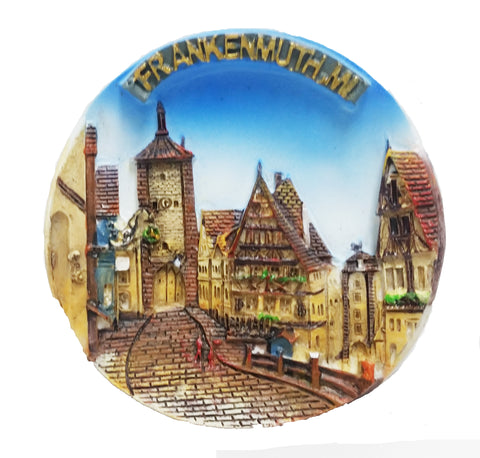 German Village Plate Magnet 2.75""