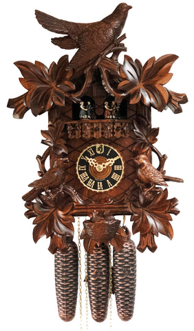 8 Day Musical Nesting Birds Cuckoo Clock