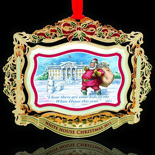 White House Christmas Ornament.Ornament 2011 Theodore Roosevelt