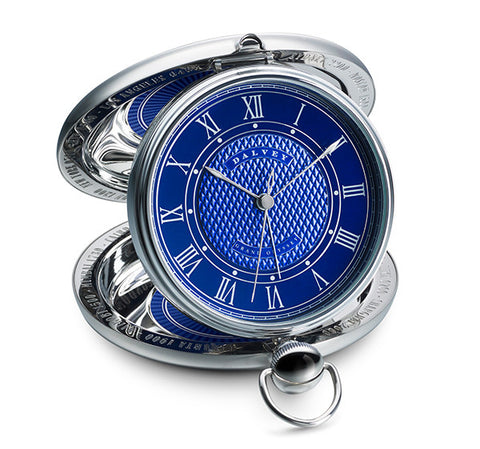Grand Odyssey Clock in Blue by Dalvey