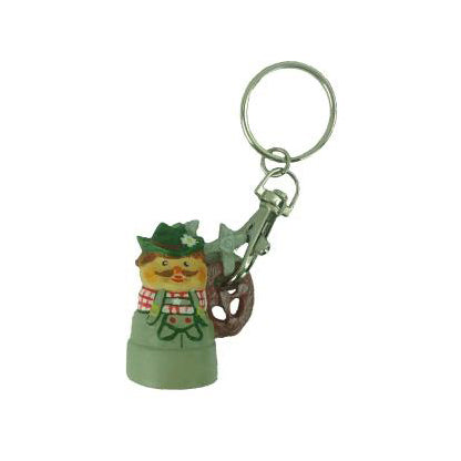 German Pretzel Man Key Chain