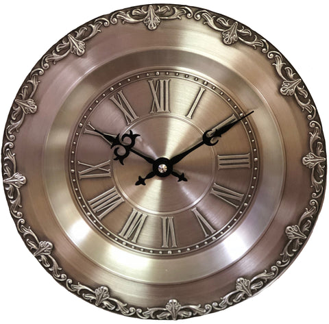 German Pewter Plate Wall Clock