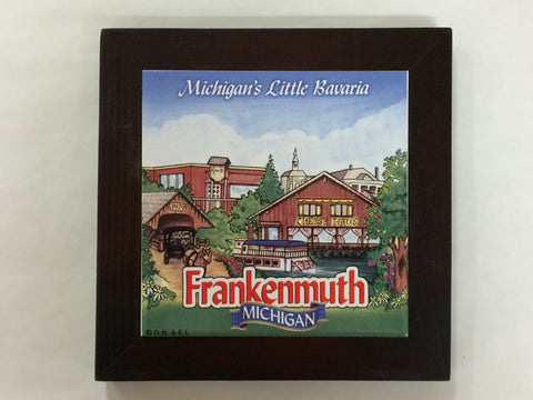 Michigan's Little Bavaria Framed Tile
