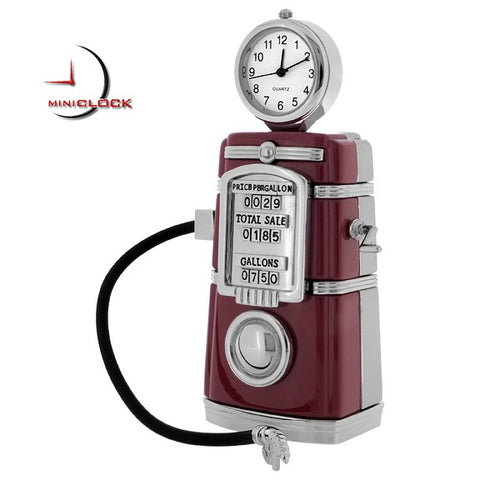 Gas Pump Miniature Clock