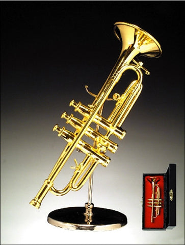 Gold Brass Trumpet Miniature