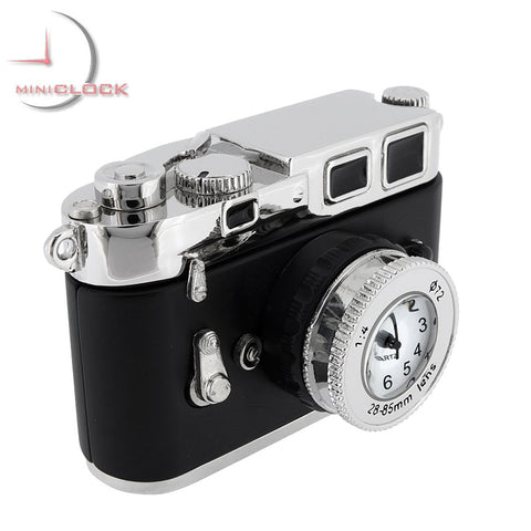 Vintage 35mm Camera Mini Clock